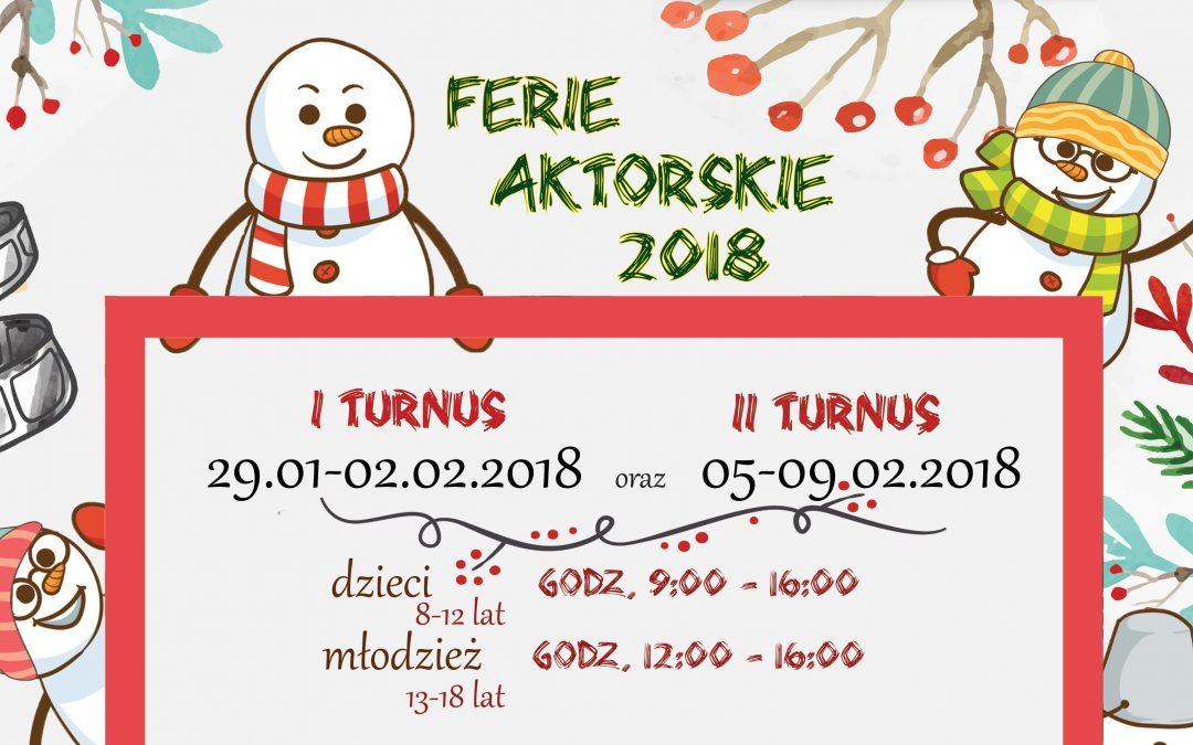 Ferie aktorskie 2018