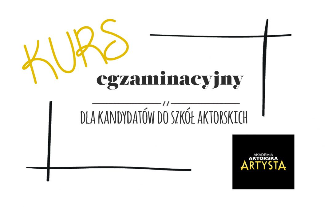 NOWOŚĆ w ofercie Akademii Aktorskiej Artysta!